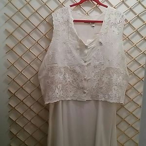 Newport News dress with lace vest, size 20W